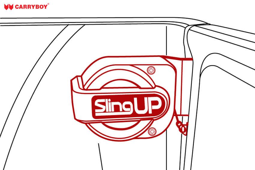 Sling up Zeichnung - geschlossene Heckklappe