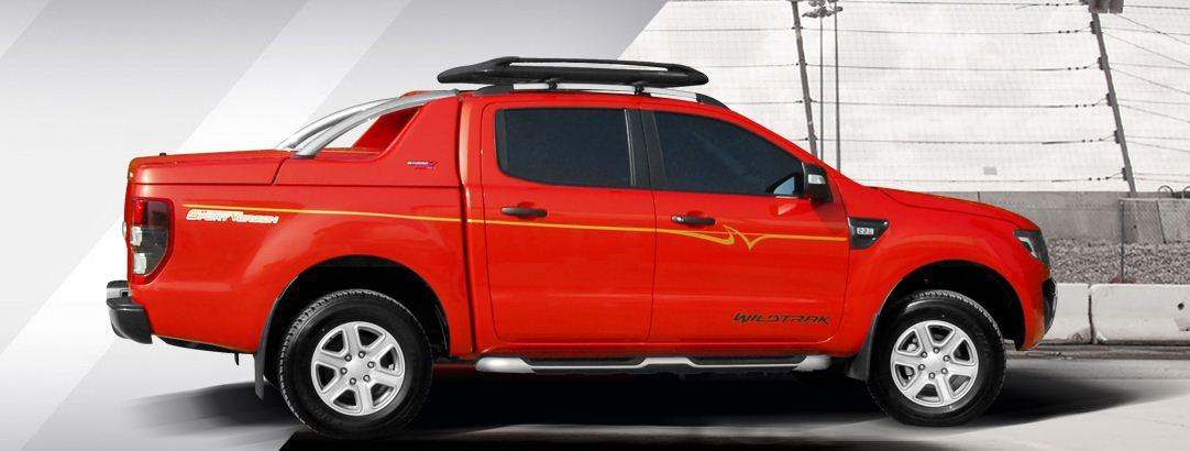 CARRYOY Laderaumabdeckung GRX-TRD für Toyota Hilux Doppelkabine - Seitenansicht