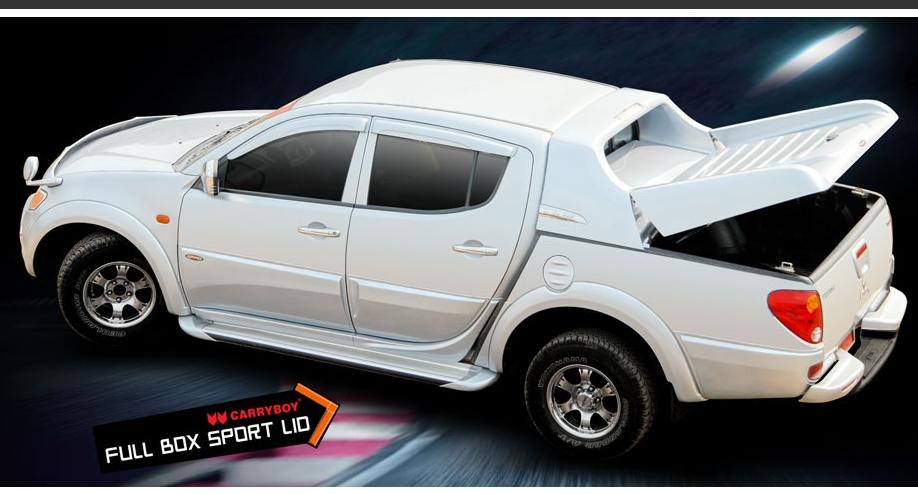 CARRYBOY Laderaumabdeckung Fullbox Mitsubishi L200 Doppelkabine 2005-2015 mit Sportbügel