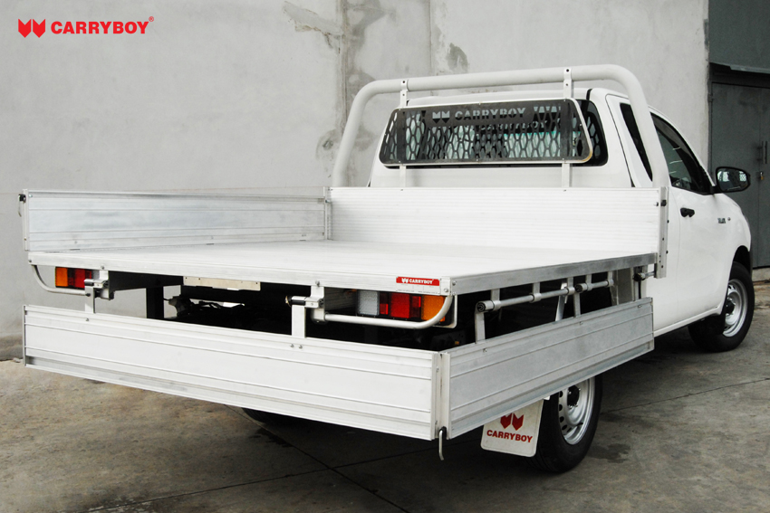 Carryboy Fahrgestellaufbau Aluminiumladefäche Pickup Extrakabine herunterklappbare Bordwand