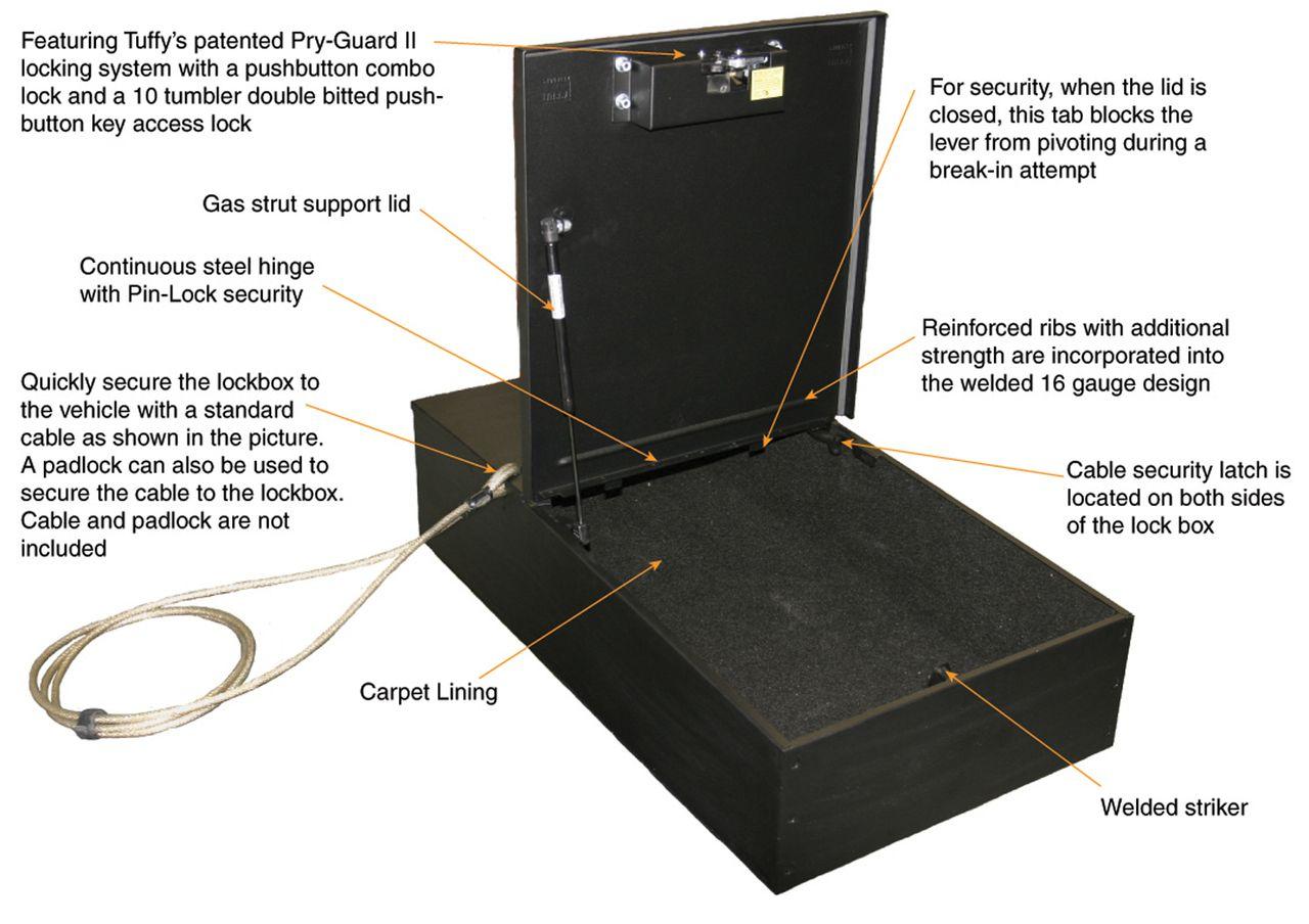 NOVISauto Kofferraum Sicherheitsbox Gewehrbox und Waffentresor Fahrzeuge Eigenschaften 253
