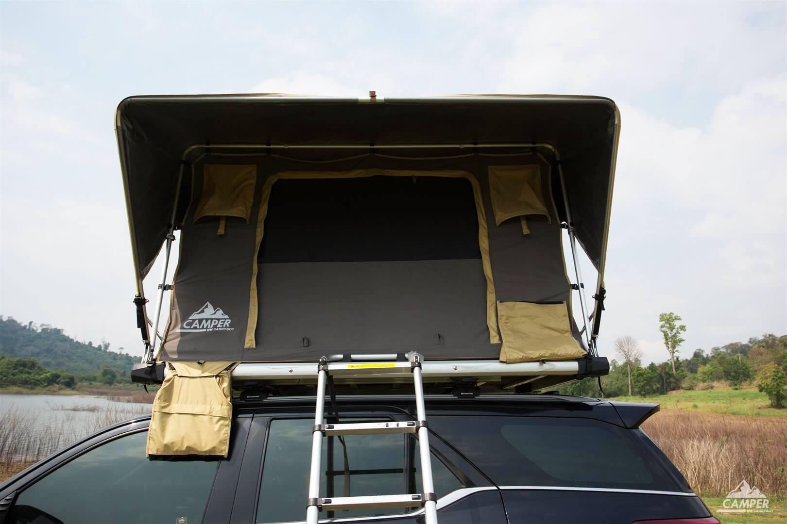 Carryboy Camper Dachzelt für 2 bis 3 Personen für alle Fahrzeuge 2000mm Wassersäule