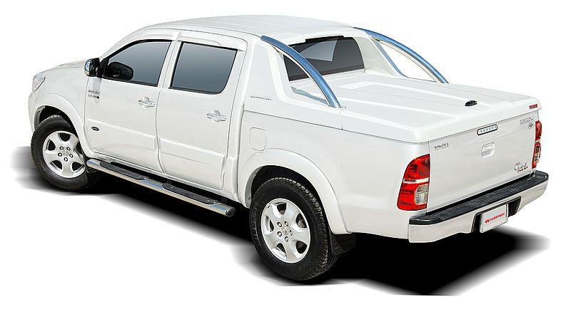 CARRYBOY Laderaumabdeckung mit Edelstahlbügel GRX-TVD Toyota Hilux Vigo Doppelkabine sicher abschließbar
