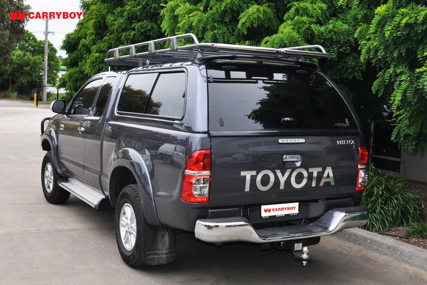 CARRYBOY Hardtop mit großen Schiebefenstern 560gF-TRC Toyota Hilux Revo Invincible Extrakabine beheizbare Heckscheibe