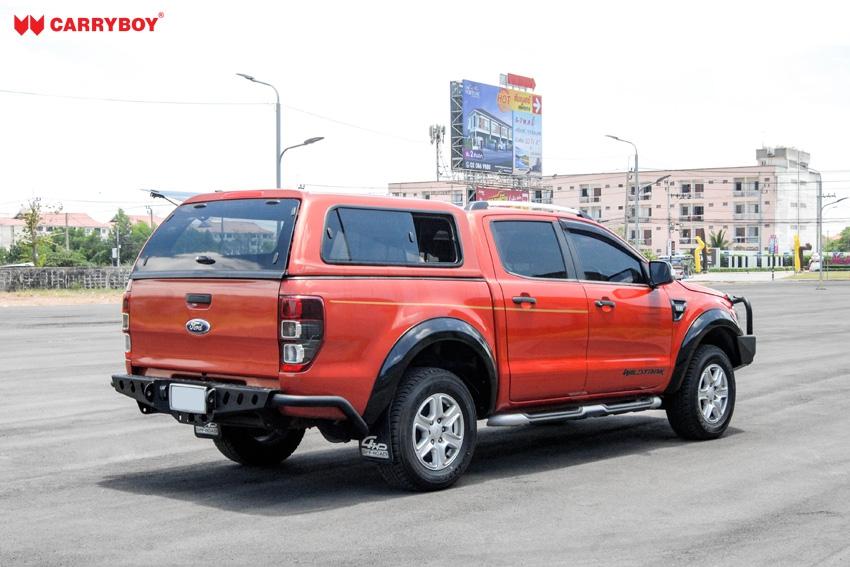 CARRYBOY Hardtop mit Klappfenster und Schiebefensterkombination Fiat Fullback Doppelkabine extrem stabiles GFK sicher abschließbar