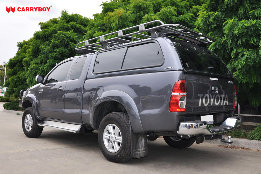 CARRYBOY Hardtop mit großen Schiebefenstern 560gF-TRC Toyota Hilux Revo Invincible Extrakabine sicher abschließbar