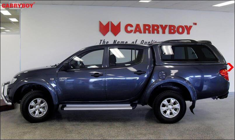 CARRYBOY Hardtop mit Schiebefenster 560-MTD Mitsubishi L200 Doppelkabine Kurzbett 2005-2015 Installation ohne Bohren