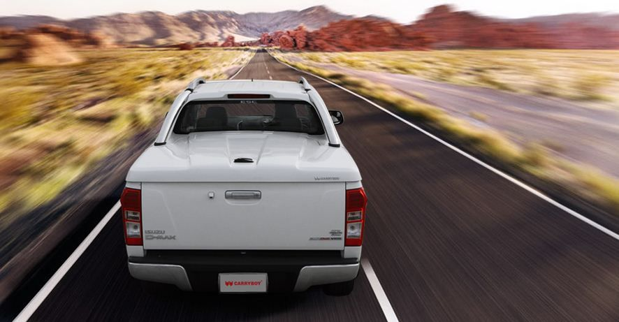 CARRYBOY Laderaumabdeckung mit Edelstahlbügel GRX-TVD Toyota Hilux Vigo Doppelkabine Qualität und Design