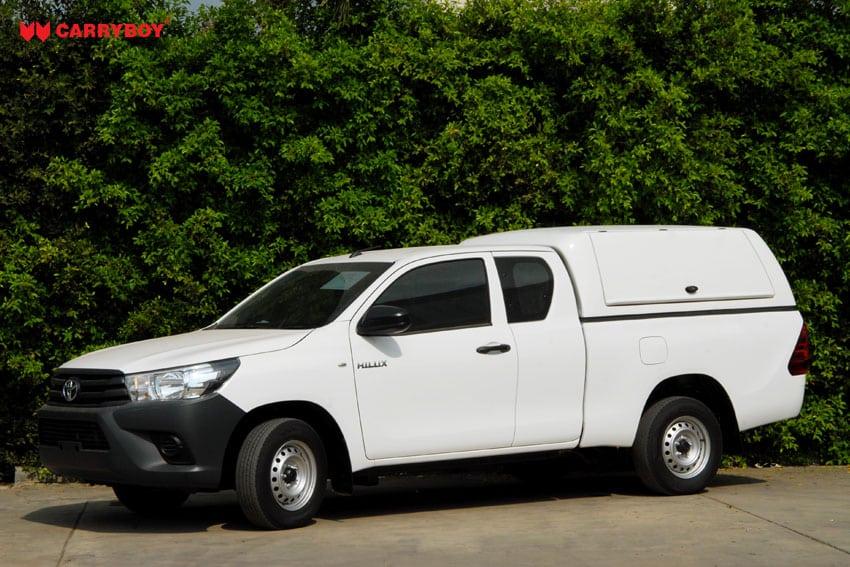 CARRYBOY Gewerbe Hardtop mit seitlichen Kunstsoffklappen Toyota Hilux Vigo Extrakabine