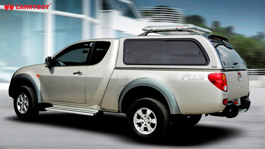 CARRYBOY Hardtop 560gF-NP3K große Schiebefenster Nissan Navara NP300 Kingcab Extrakabine 2016+ sicher abschließbar