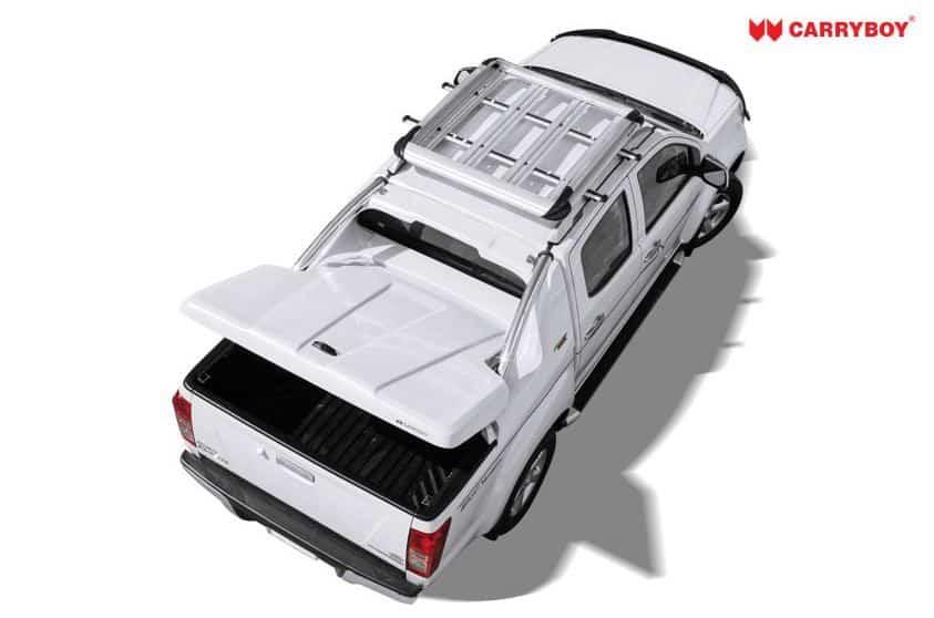 CARRYBOY Pickup Laderaumabdeckung Deckel mit Edelstahlbügel GRX Wagenfarbe Lackierung