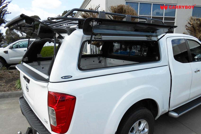 CARRYBOY Hardtop mit seitlichen Klappfenstern SO-MNC Mitsubishi L200 Clubcab Extrakabine 2016+ große Klappefenster getönt