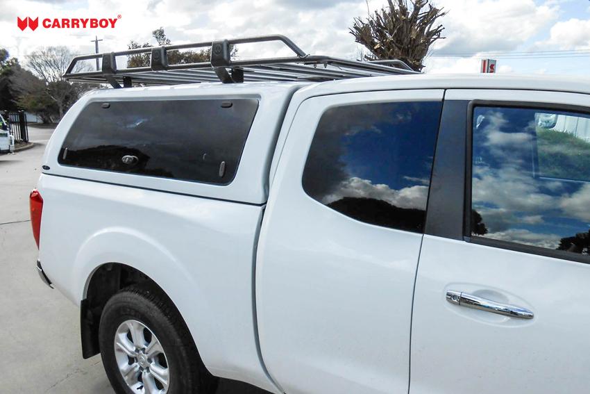 CARRYBOY Dachlastträger 763 Aufbau auf Hardtop mit passenden Haltern Extrakabine Hardtop