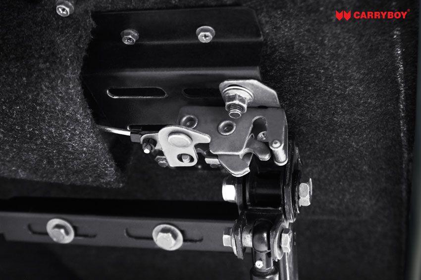 CARRYBOY Laderaumabdeckung Pickup mit Motorhub SMX Deckel auf Kabinenhöhe einstellbar Edelstahl Komponenten