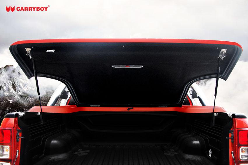 CARRYBOY Laderaumabdeckung Deckel in Wagenfarbe einfache Installation Toyota Hilux Vigo 2005-2015 Doppelkabine