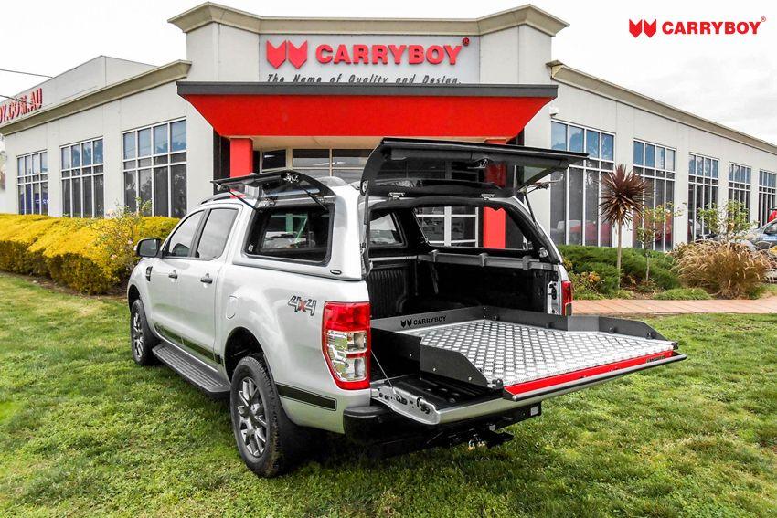 CARRYBOY Ladebodenauszug ausziehbarer Ladeboden 350kg Premium Aluminium Vollbett Schublade füllt Laderaum komplett aus