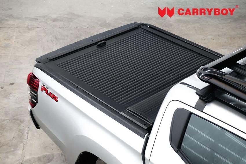CARRYBOY Aluminiumrollo Mitsubishi L200 Doppelkabine mattschwarz Aluminiumcover sicher abschließbar