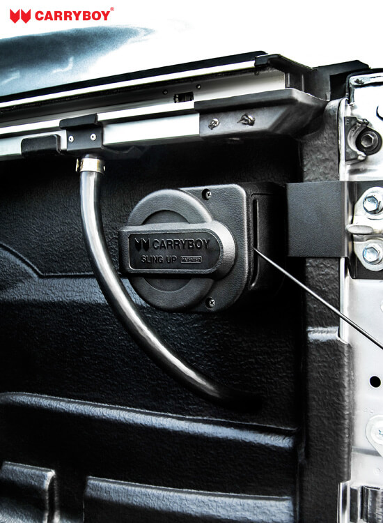 CARRYBOY Heckklappendämpfer Nissan Navara NP300 stufenlos verstellbar