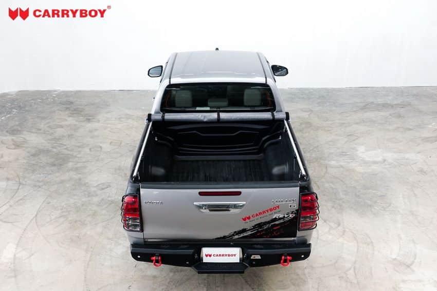 CARRYBOY Toyota Hilux Revo Invincible Doppelkabine Laderaumabdeckung Vinyplane einfacher Schutz