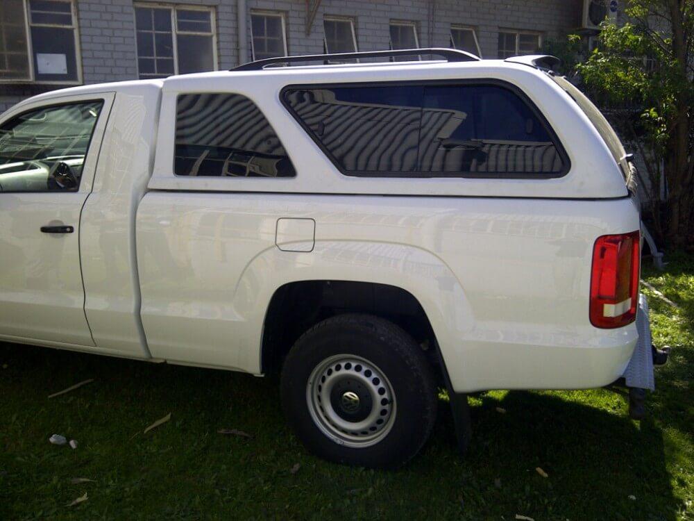 CARRYBOY Hardtop mit Schiebefenster für Ford Ranger Einzelkabine Singlecab Schiebefenster und Ausstelllfenster