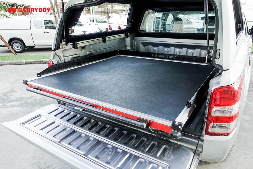 CARRYBOY Ladebodenauszug mit Werkzeugschubladen Kombination CB-800 Größe S gummierte Oberfläche