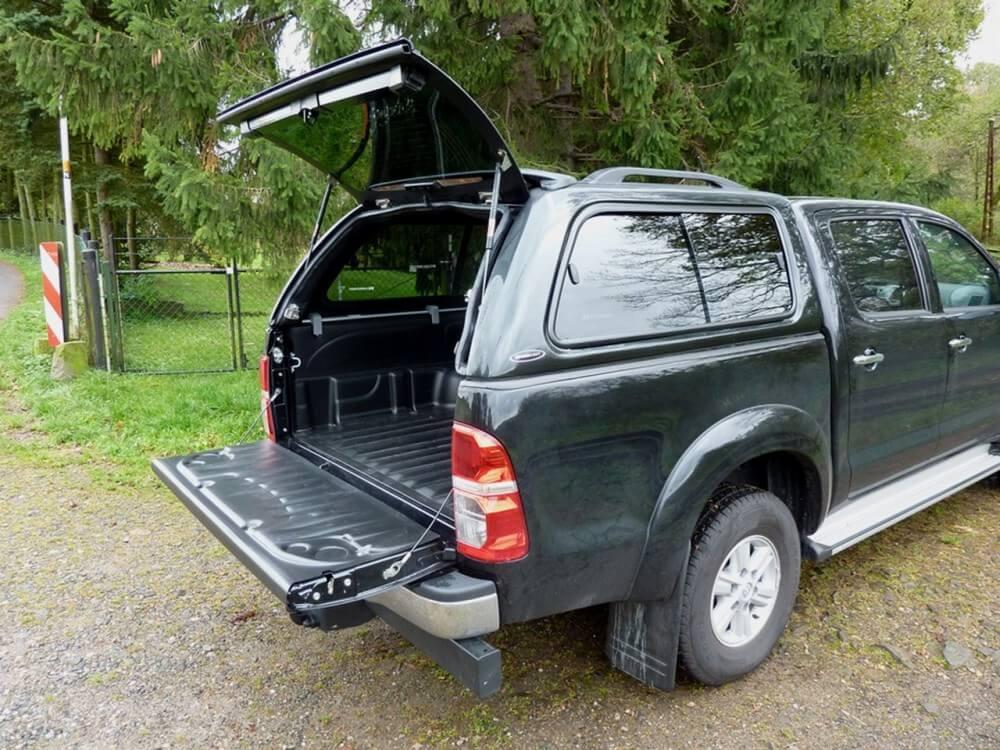 CARRYBOY Hardtop 560 mit seitlichen Schiebefenster für Toyota Hilux Vigo Doppelkabine gesicherte Ersatzteilversorgung