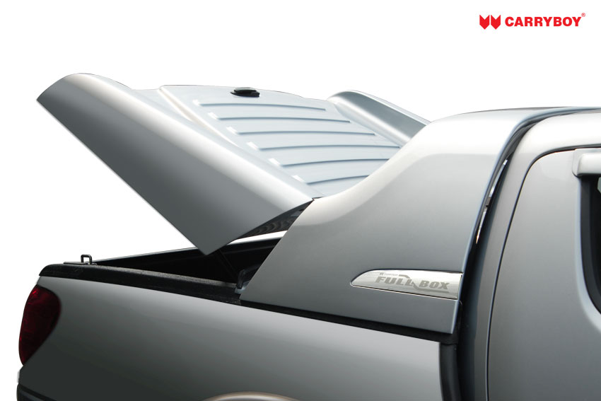 CARRYBOY Laderaumabdeckung Deckel Fullbox Öffnungswinkel gehärtete Scharniere Isuzu D-Max Doublecab 2012-2016