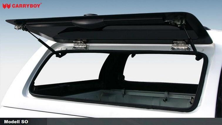 Carryboy Hardtop Ford Ranger Doppelkabine 05-11 mit seitlichen Klappen aus GfK  Rahmenlose Fenster