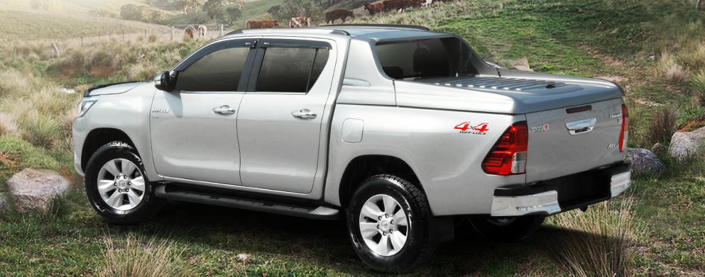 Carryboy Fullbox Deckel 762-TRD für Toyota Hilux Doppelkabine - Seitenansicht links