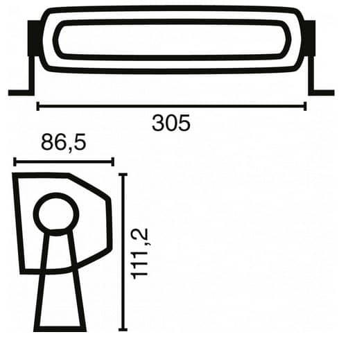 LED Arbeitsscheinwerfer 5760 Lumen Modell 110645