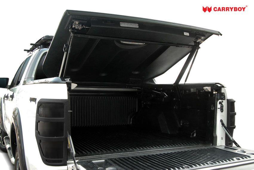 CARRYBOY Pickup Laderaumabdeckung Deckel mit Edelstahlbügel GRX Heckklappe Öffnung