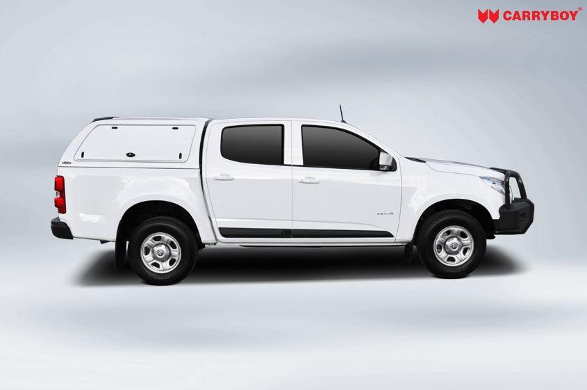 CARRYBOY Toyota Hilux Revo_Invincible Doppelkabine Zubehör Hardtop mit geschlossenen Seiten SOK-TRD GFK Hardtop sicher abschliessbar