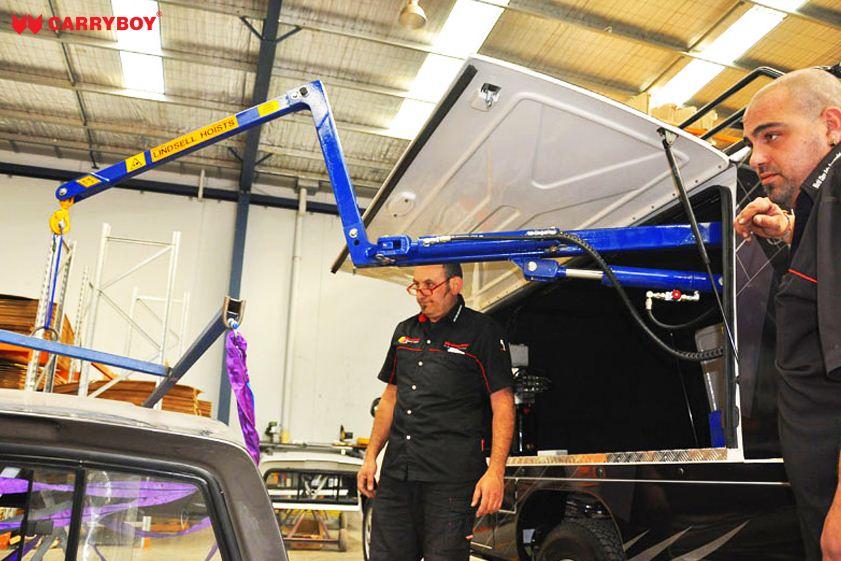 CARRYBOY Fahrgestellaufbau Kofferaufbau für Ford Ranger Singlecab Kraneinbau