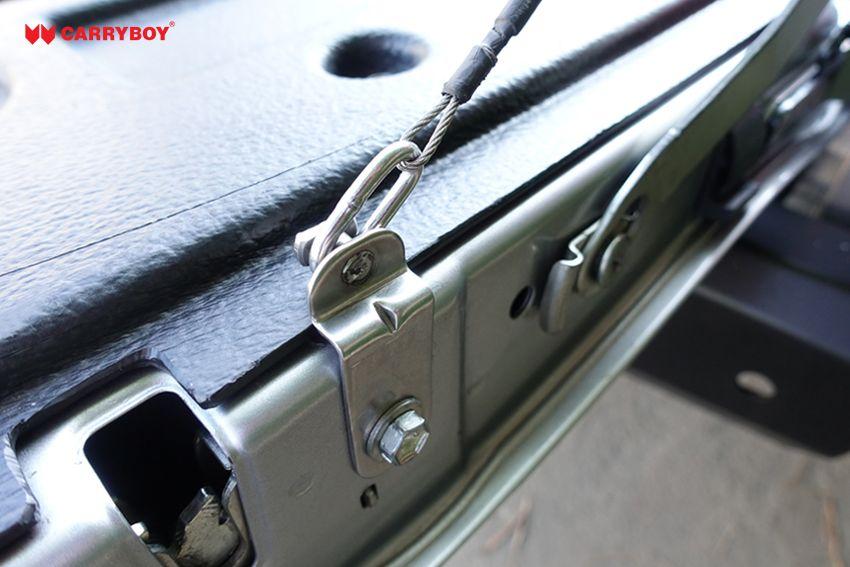 CARRYBOY Heckklappendämpfer Seilzug Ford Ranger Kraft beim Öffnen und Schließen ohne Bohren