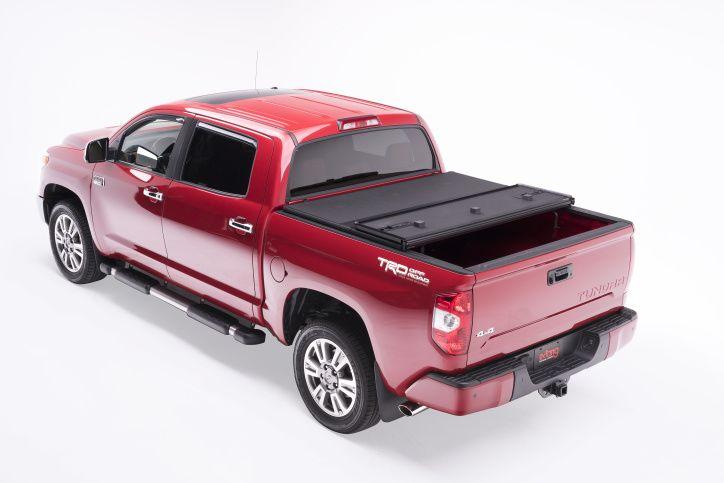 NOVISauto Laderaumabdeckung Trifold zum Falten Überkante Toyota Tundra einfacher Einbau ohne Bohren dicht