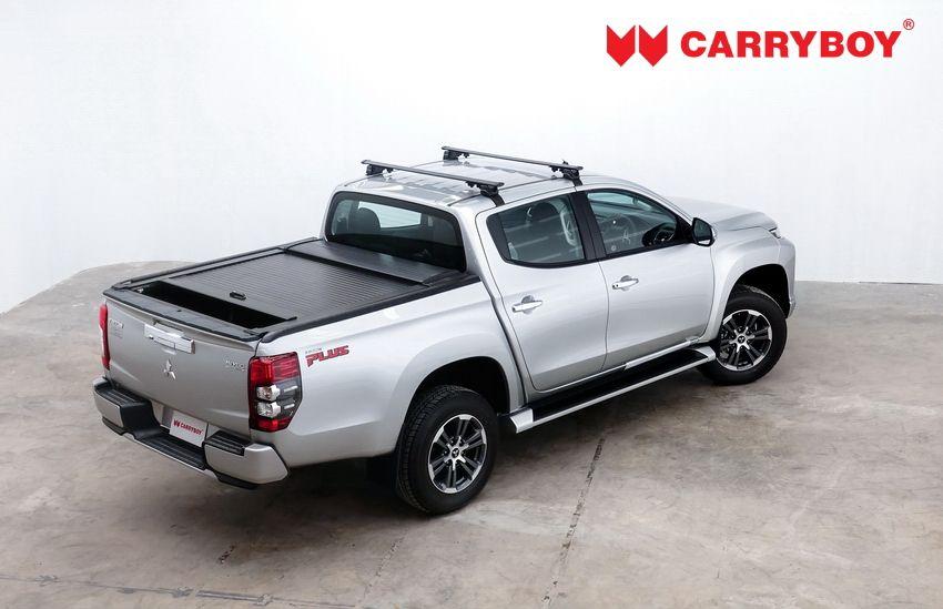 CARRYBOY Aluminiumrollo Mitsubishi L200 Doppelkabine mattschwarz Aluminiumcover doppelwandig