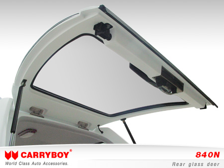 CARRYBOY Hardtop 840oS für Ford Ranger Singlecab ohne Fenster über Kabinenhöhe hohes Hardtop Heckklappe Glas