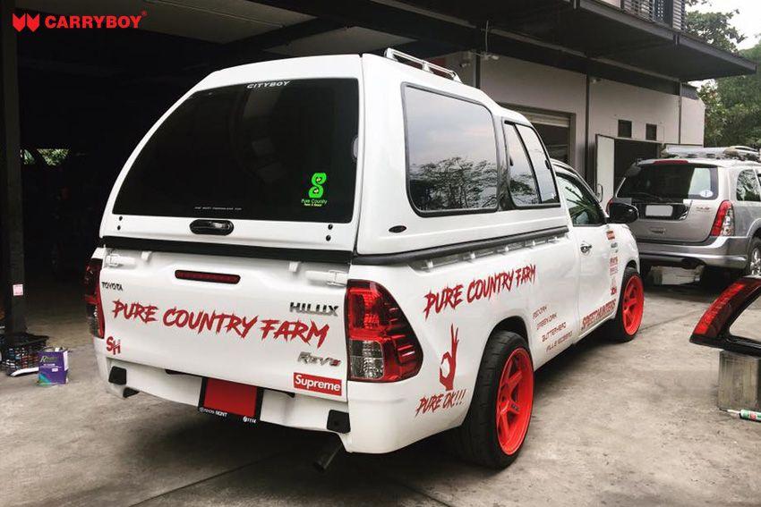 CARRYBOY Hardtop mit Überhöhe 840-TRL Toyota Hilux Singlecab Einzelkabine seitliche Schiebefenster gesicherte Ersatzteilversorgung