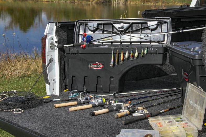 NOVISauto CARRYBOY Werkzeugbox Staubox Toolbox schwenkbar Pickup Ladefläche F150 2014+ und 2021+ Freizeit Gewerbe Handwerk