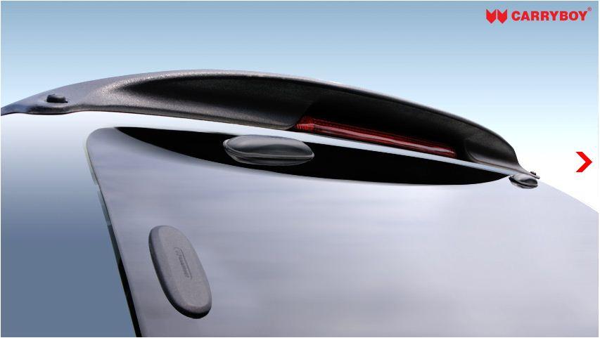 CARRYBOY Hardtop Ford Ranger Extracab 2002-2011 geschlossene Seiten Spoiler mit Bremslicht