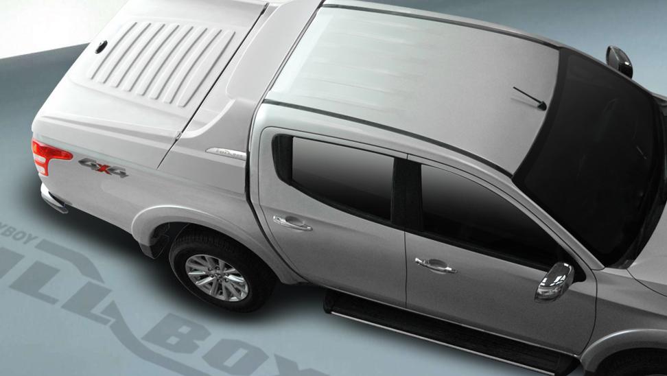 CARRYBOY Laderaumabdeckung Deckel mit Sportbügel sicher abschließbar Mitsubishi L200 Doppelkabine 2005-2015