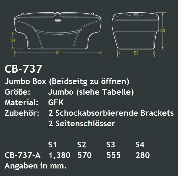 CARRYBOY Pickup Ladeflächen Staubox XXL Jumbobox 737 seitliche Öffnung