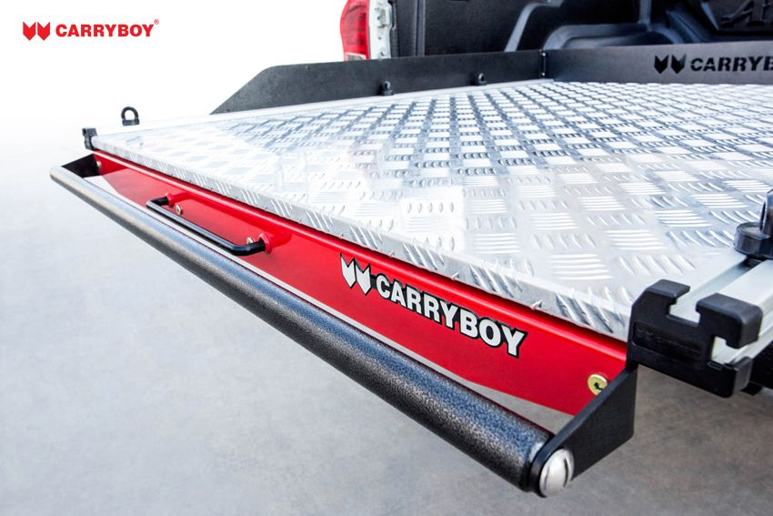 CARRYBOY Ladebodenauszug ausziehbare Ladefläche 350kg Belastung Aluminium Hammerschlag Griff