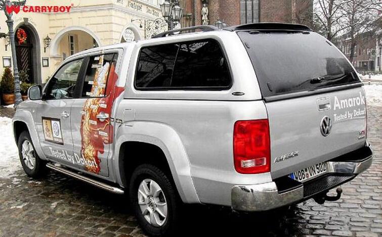 CARRYBOY Hardtop 560 mit seitlichen Schiebefenster für VW Amarok Doppelkabine Lackierung in Wagenfarbe