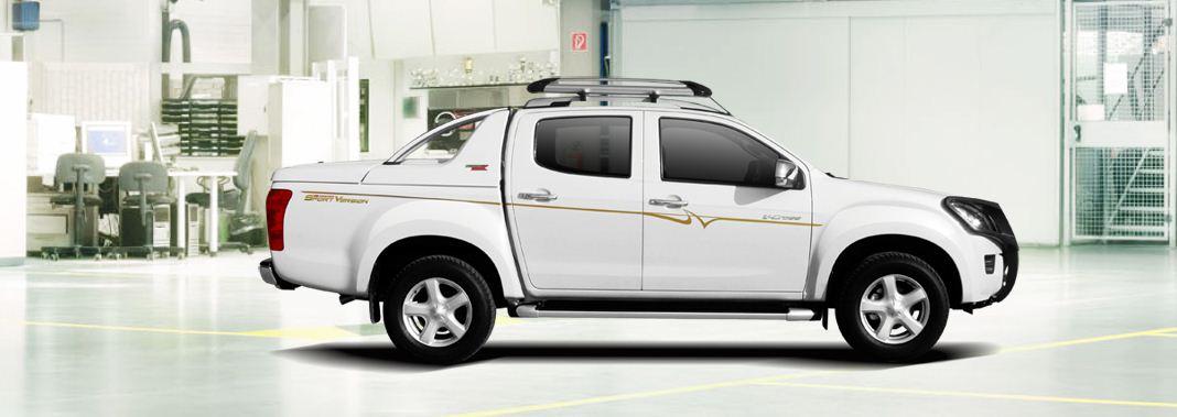 CARRYOY Laderaumabdeckung GRX-TRD für Toyota Hilux Doppelkabine - Seitenansicht links