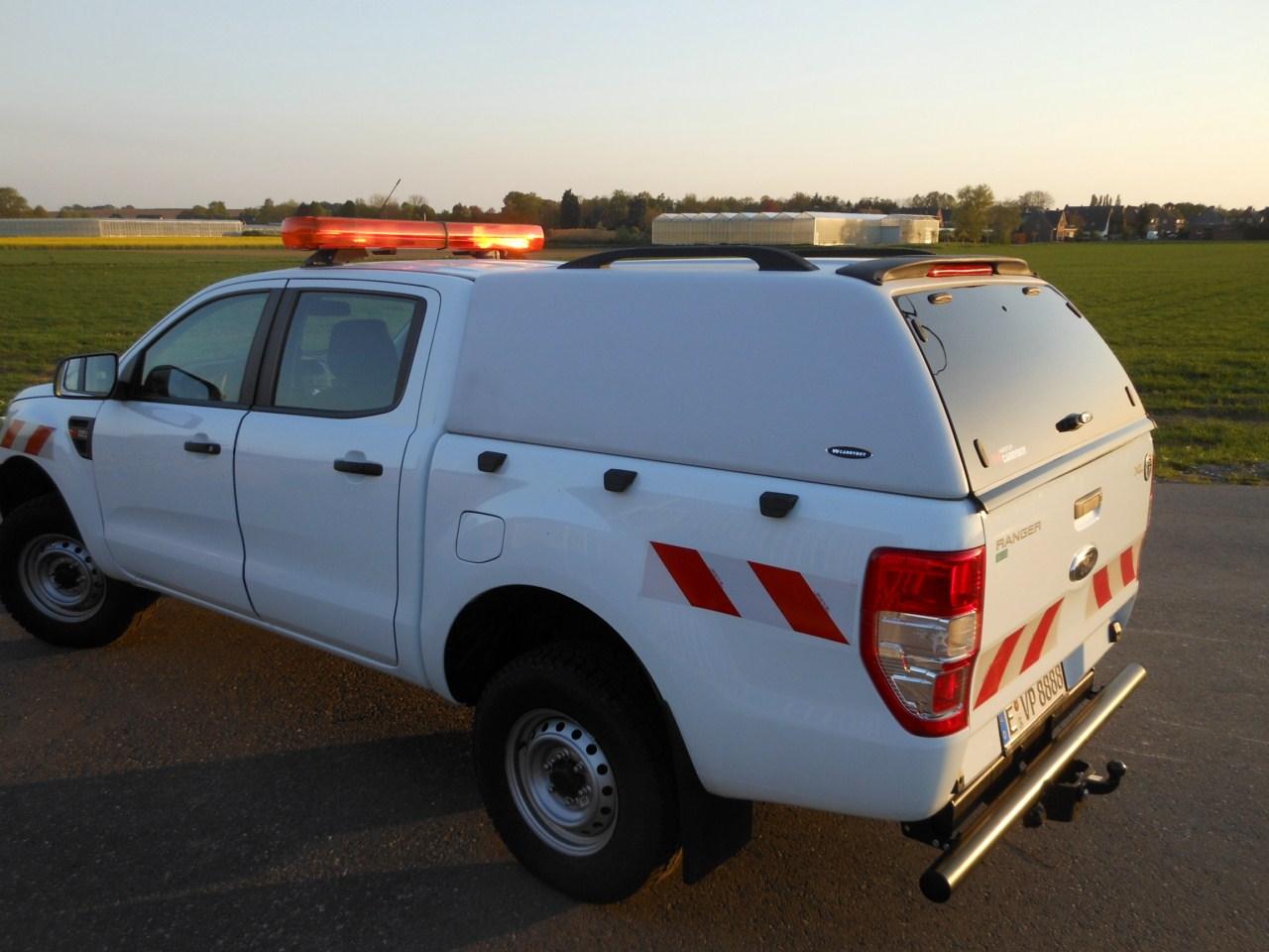 CARRYBOY Hardtop Isuzu Dmax Doublecab 12-16 GFK Hardtop ohne Seitenfenster sehr stabil Gewerbehardtop