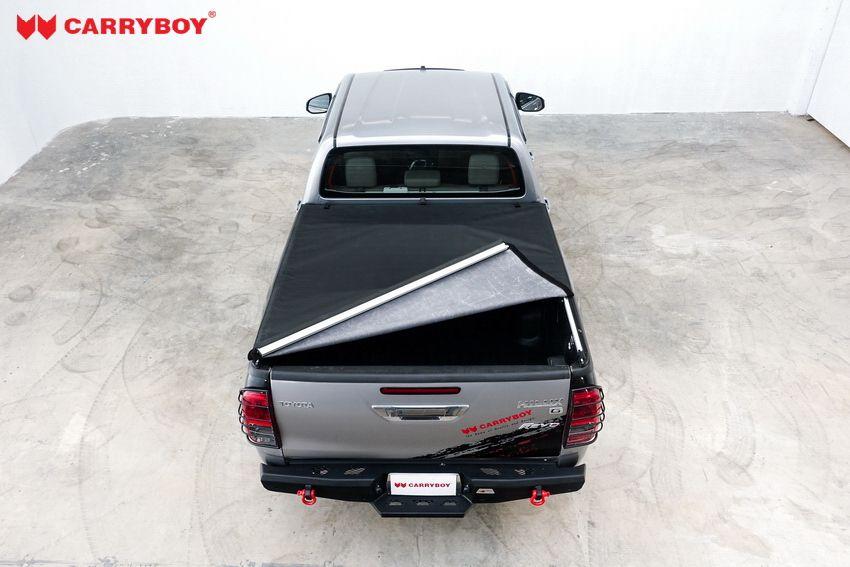 CARRYBOY Toyota Hilux Revo Invincible Doppelkabine Laderaumabdeckung Vinyplane einfacher Verschluss