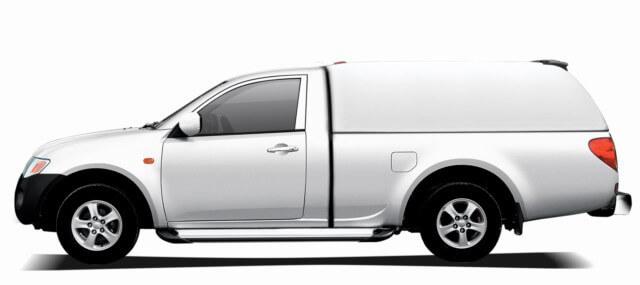 CARRYBOY Hardtop ohne Seitenfenster geschlossene Seiten Ford Ranger Singlecab Einzelkabine 2002-2011 belastbare Dachreling