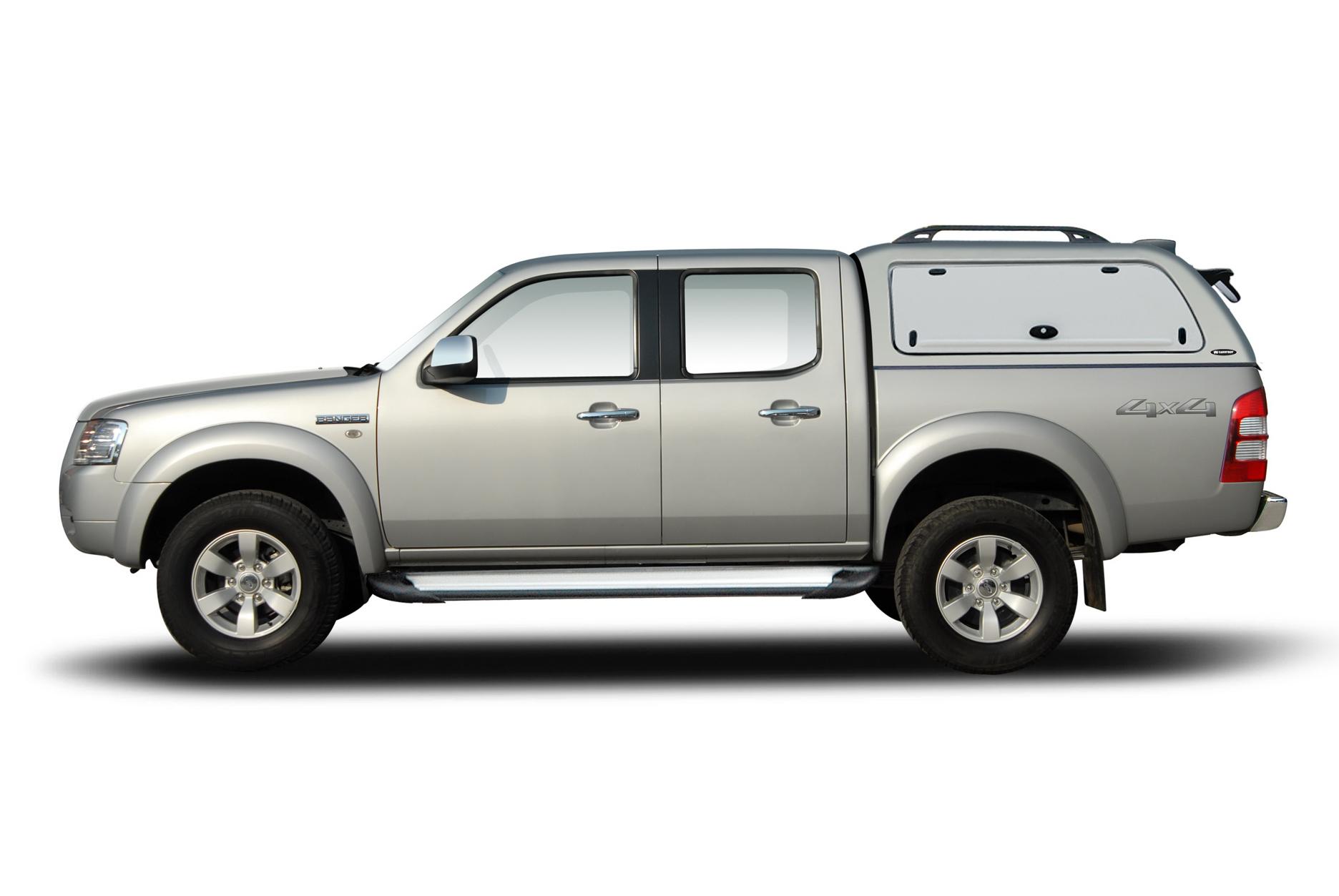 Ford Ranger Doppelkabine Hardtop mit seitlichen GFK Klappen SOK-FTD einfacher Einbau ohne Bohren