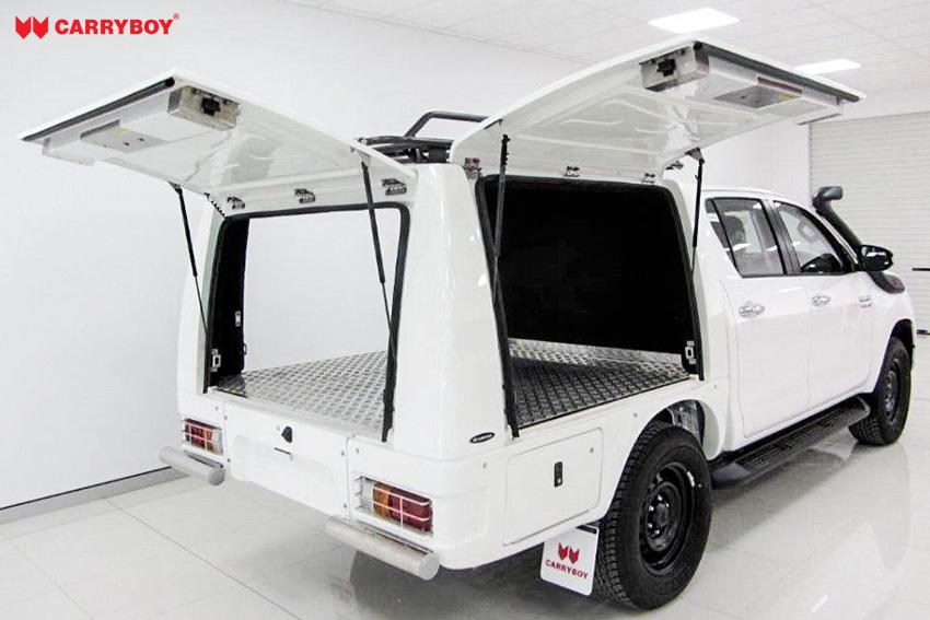 CARRYBOY Kofferaufbau Karosserieumbau offene Klappen Ford Ranger Singlecab 2012+